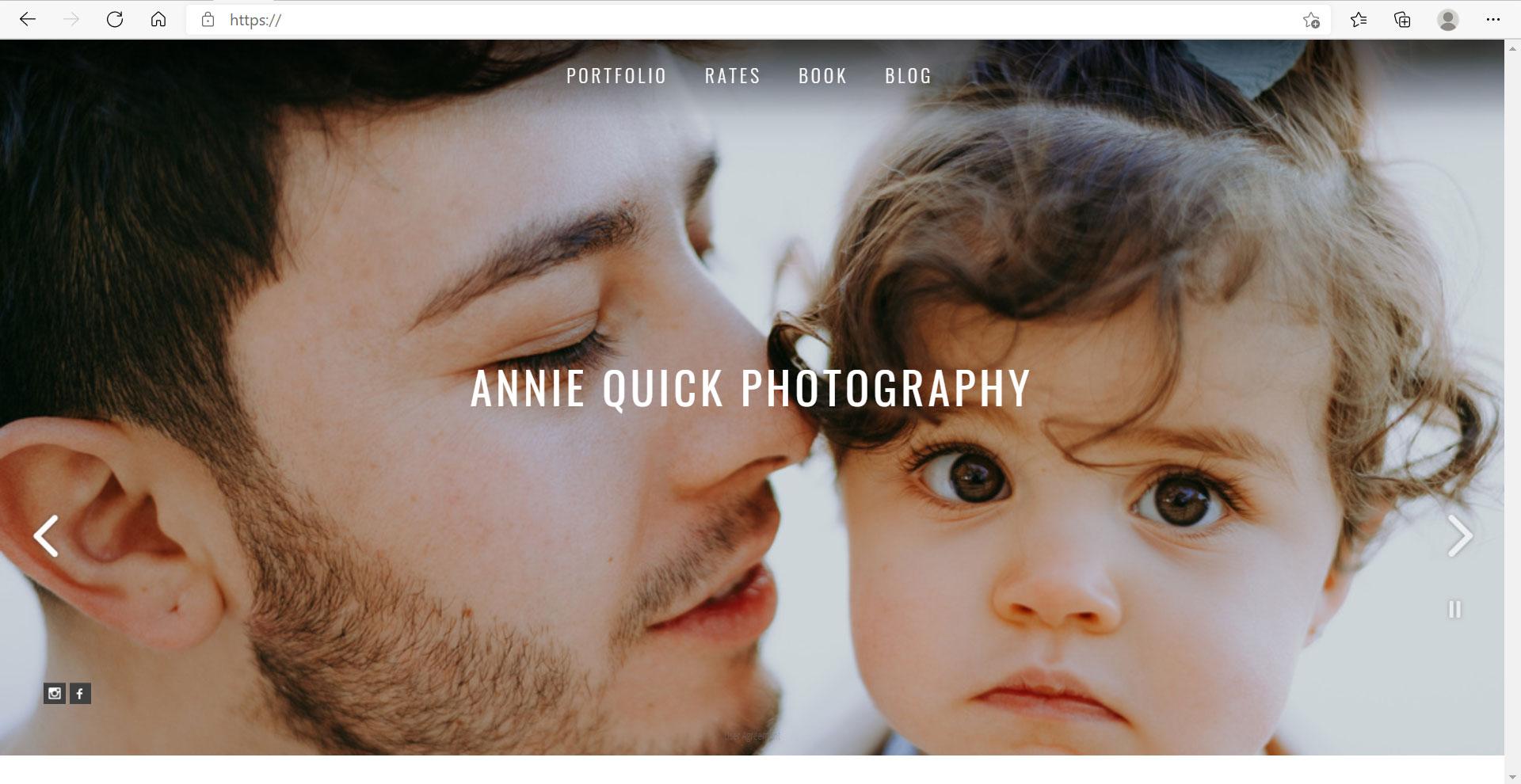 Zenfolio Example Website 02