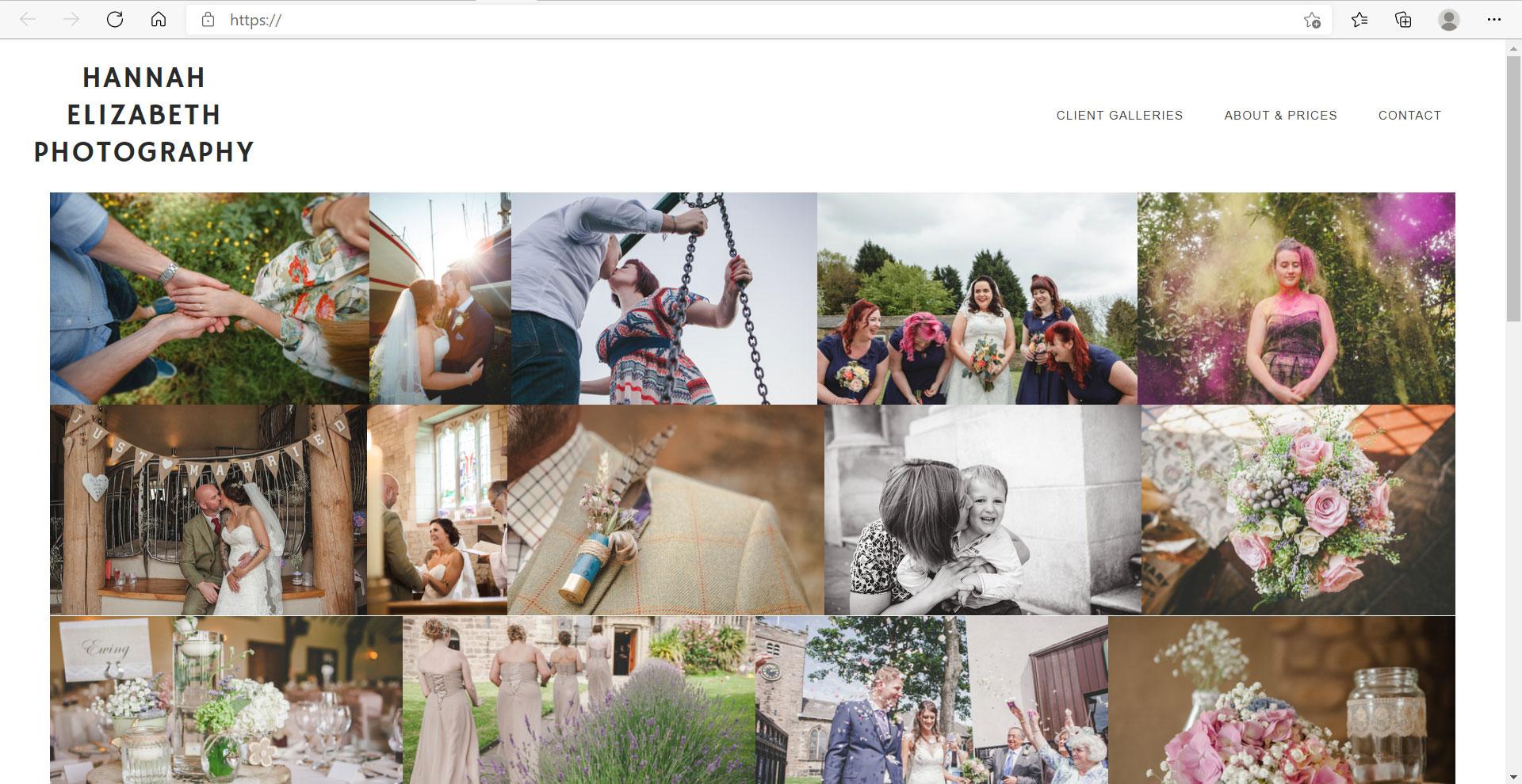 Zenfolio Example Website 07